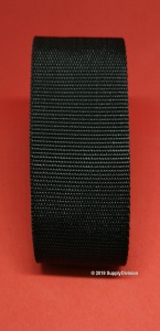 30mm Standard weave Polypropylene webbing: Black